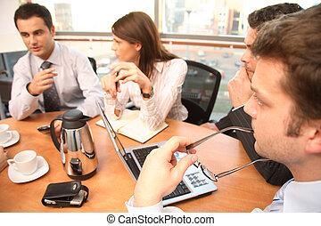 gens, fonctionnement, groupe, business, brainstorm.