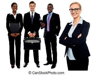 gens., groupe, equipe affaires
