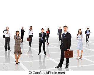 gens, jeune, séduisant, business
