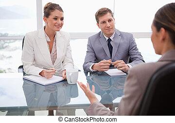 gens, négociation, business
