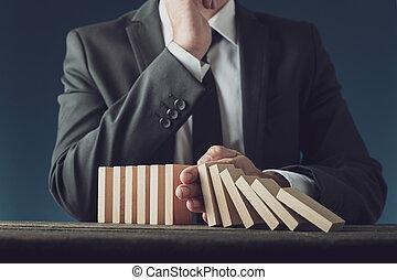 gestion, crise, business