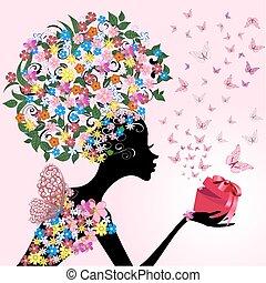 girl, romantique, cadeau