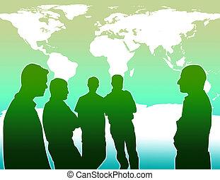 global, empêcher, travail, chauffage, équipe