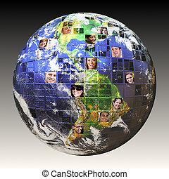 global, gens, réseau