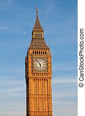 grand, london., ben, tower., horloge