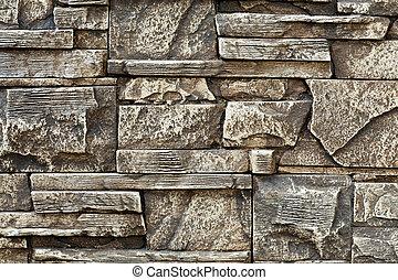 grand, mur, texture pierre