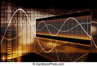 graphique, technologie, finance, tableur