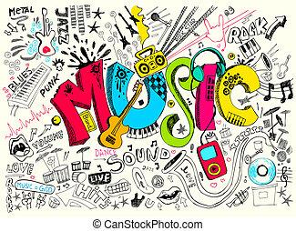 griffonnage, musique