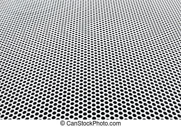 grille métal, perspective