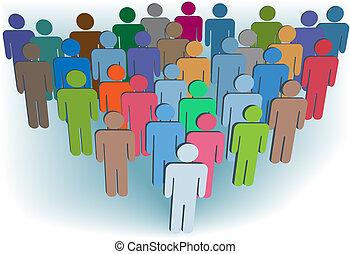 groupe, gens, symbole, couleurs, compagnie, ou, population