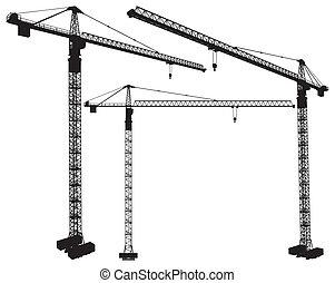 grue, construction, élévation
