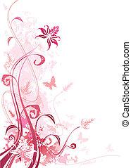 grunge, rose, floral