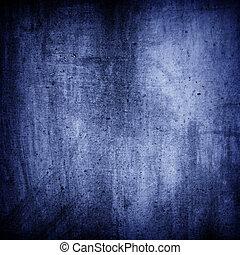 grunge, texture, arrière-plan bleu, mur