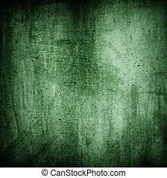 grunge, texture, fond, mur, vert