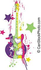 guitare, rigolote, graphisme