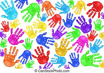 handpainted, gosses, handprints