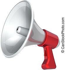 haut-parleur, message, porte voix