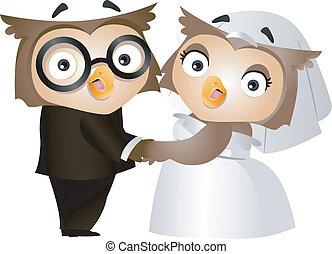 hibou, mariage