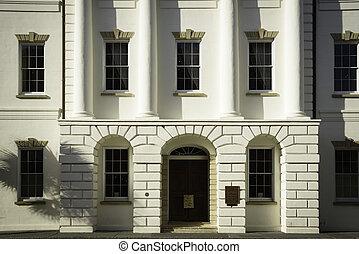 historique, détail, tribunal