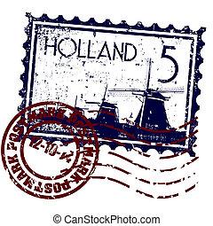 hollande, illustration, isolé, icône, vecteur, unique