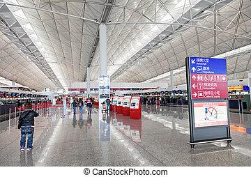 hong, aéroport, kong