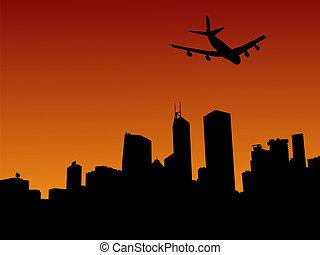 hong, avion, horizon, kong