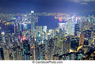 hongkong, nuit