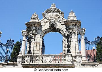 hongrie, buda, budapest, château, portail
