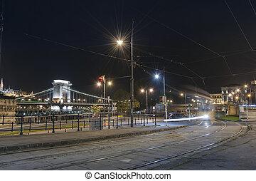 hongrie, budapest, nuit