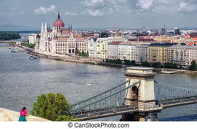 hongrois, parlement, église, matthias, budapest