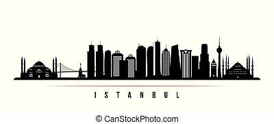 horizon ville, horizontal, istanbul, banner.
