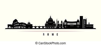 horizon ville, rome, horizontal, banner.