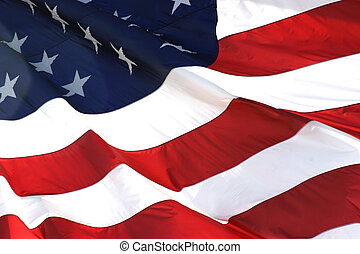 horizontal, drapeau, américain, vue