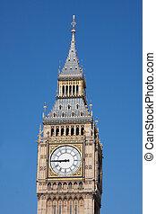 horloge, maison, parlement, ben, grand