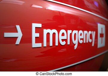 hospital., signe, urgence