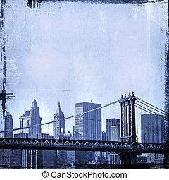 image, grunge, horizon, york, nouveau