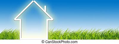 imagination, pré vert, nouvelle maison