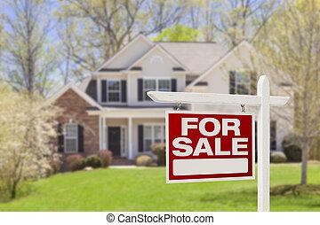 immobiliers, maison, signe vente, maison