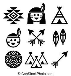 indien, gens, américain, indigène