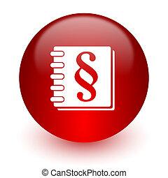 informatique, fond, blanc, droit & loi, rouges, icône