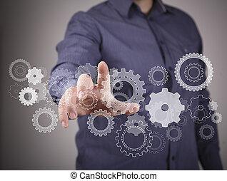 ingénierie, conception, image