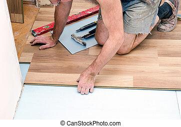 installation, plancher
