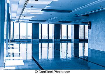 intérieur bâtiment, moderne, bureau