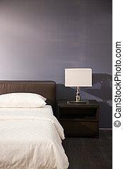intérieur, salle moderne, lit