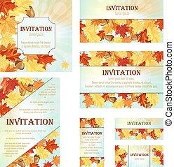 invitation, ensemble, cartes