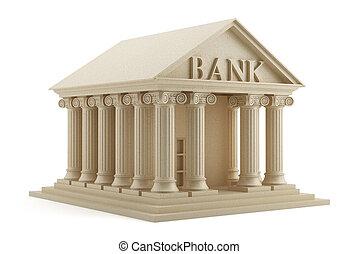 isolé, banque, icône