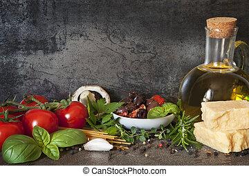 italien, fond, nourriture