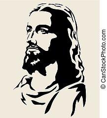 jésus, silhouette, figure