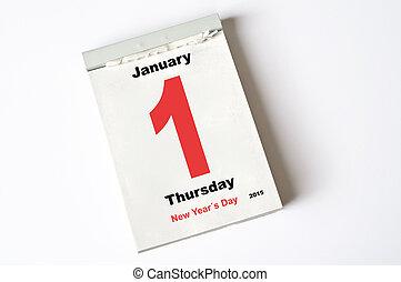 janvier, années, 2015, nouveau jour, 1.