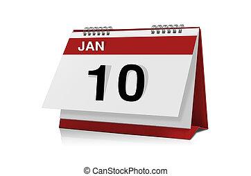 janvier, calendrier